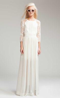 Long Hemingway Lace Back Dress - £525