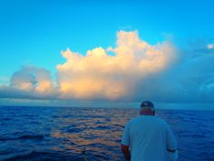 Deep sea fishing with Capt. Andrew Card on board Reel Action. Argus Banks Bermuda. The bluest of blues are Bermuda skies and water!