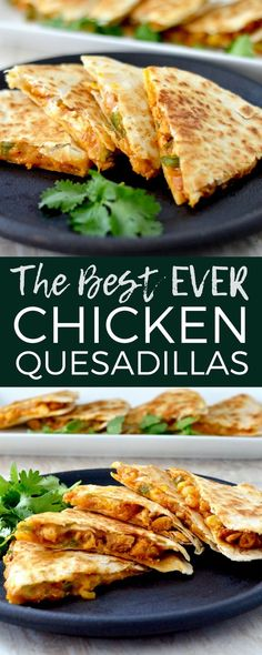 This is the Best Chicken Quesadilla Recipe EVER! It's a unique, quick, easy, delicious dinner recipe that is ready in under 30 minutes and loaded with sneaky veggies! via food recipes quick dinner simple Best Chicken Quesadilla Recipe Chicken Quesadillas, Chicken Quesadilla Recipes, Recipe Chicken, Easy Quesadilla Recipe, Veggie Quesadilla, Healthy Quesadilla Recipes, Mexican Quesadilla, Cooking Recipes, Healthy Recipes
