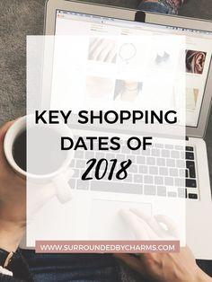 Key Shopping Dates of 2018