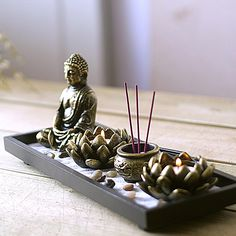 Buddha Zen Buddha Incense Candle Ornaments Incense Burner Incense Incense Censer Aromatherapy Candle Holder - Free Shipping - ChinaBestPrice.com