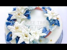 HOT CAKE TRENDS 2016 Buttercream Poinsettia Christmas cake - How to make by Olga Zaytseva - YouTube
