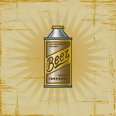 Retro Beer Can  #GraphicRiver         Retro beer can in woodcut style. Vector illustration.     Created: 30March12 GraphicsFilesIncluded: JPGImage #VectorEPS Layered: No MinimumAdobeCSVersion: CS Tags: Canned #antique #background #beer #beverage #bottle #can #cartoon #drawing #drink #engraving #graphic #grocery #icon #illustration #merchandise #old #packaging #painting #product #retro #scratched #supermarket #texture #vector #vintage #woodcut #worn