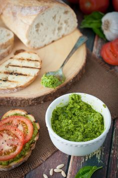Quick and delicious pesto sauce recipe. This pesto sauce recipe is ready in minutes and perfect on pasta, crusty bread or pizza. It's better and fresher than most store bought versions.