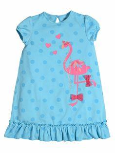 The new pajama dress by Petit Lem dreams of flamingos and pool parties.