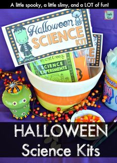Halloween Science Experiment Kits are the coolest Halloween treat your kids will ever get! Perfect for teachers, parents, and kids to give out this year. They make awesome party favors too! Science Experiment Kits, Science Kits, Teaching Science, Science Projects, Science Activities, Science Experiments, Science Worksheets, Science Fun, Science Lessons