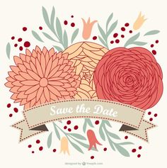 Floral wedding invitation free for download « Vectors « High Graphic