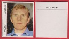 Rare Italian issue Football sticker for the 1970 World Cup, depicting the England and West Ham United star Bobby Moore Football Stickers, Football Cards, Baseball Cards, Premier Football, 1970 World Cup, Bobby Moore, West Ham, England, Star
