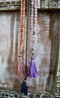 Beaded Tassel Necklaces Loved & pinned by http://www.shivohamyoga.nl/ #yoga #mala