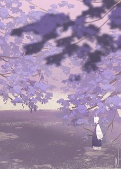 For thine trees to thrive, one must plant them apart. – Horain Proverb. Lune's lavender sea. By Wrat