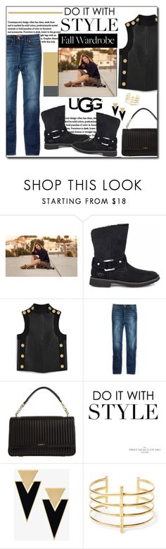 """""""The New Classics With UGG: Contest Entry"""" by polybaby ❤ liked on Polyvore featuring UGG, Mulberry, Madewell, DKNY, Yves Saint Laurent, BauXo and ugg"""