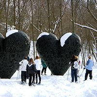 Sculpture Park Snowshoe Tour lincoln ma, DECORDOVA