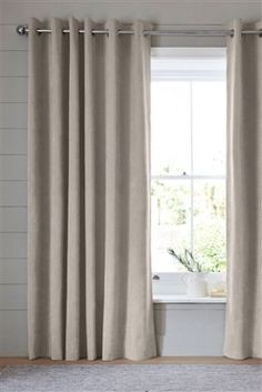 Buy Thermal Soft Velour Eyelet Curtains from the Next UK online shop