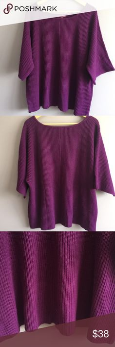 "Jessica London Purple Short Sleeve Sweater 22/24 Excellent used condition from a smoke free and pet free home. 1 business day shipping. Please message me if you have questions about this item. I am happy to assist you.  •	Size: 22/24 •	Fabric content: 55% cotton and 45% acrylic •	Shoulder to hem: 24"" •	Shoulder to shoulder: 24"" •	Armpit to armpit: 27"" Jessica London Sweaters"