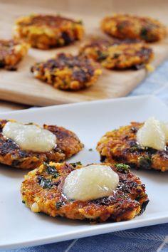Vegan, Gluten-Free Chanukkah: Sweet Potato and Kale Latkes - The Colorful Kitchen