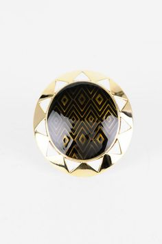 house of harlow sun cocktail ring, $46