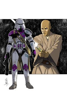 Commanders and Generals: 187th CC/Mace Windu COLOR by Hodges-Art on deviantART