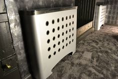 CASA DECO galvanised metal radiator covers in futuristic games room (From Modern Radiator Covers and Window Shutters)