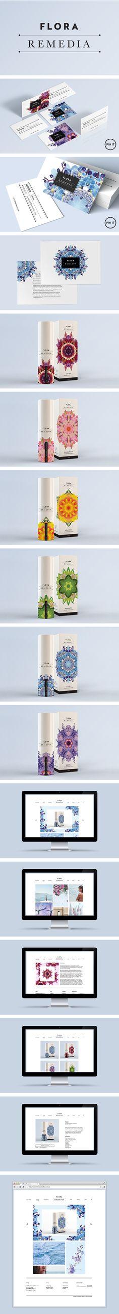 Flora Remedia branding by Smack Bang Designs #Branding #BusinessCards…