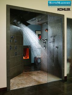 Wow! Check this one out! Kohler shower renovation ideas.