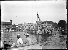 Diving at English Bay, early 1900's