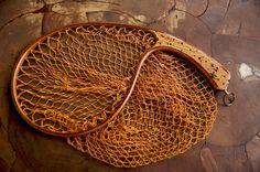 タモ虫食いグリップ  カーブフレームのランディングネット 完成 - 渓流で逢いましょう