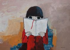 Reading of the past, 2011. Painting by Vane Kosturanov.