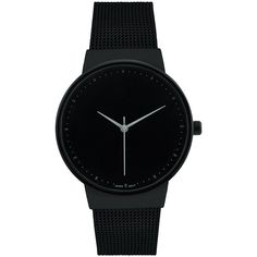 Geneva Platinum Black Stainless Steel Bracelet Watch ($20) ❤ liked on Polyvore featuring jewelry, watches, analog wrist watch, platinum crown, platinum jewellery, stainless steel bracelet watch and analog watches