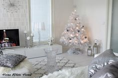 White Christmas in our living room.