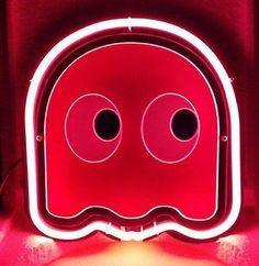 SB262 Pink Ghost Pacman Arcade Game Memory Display Neon Light Sign