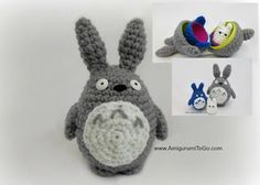 Large Totoro Pattern Three of Three For Stacking Set ~ Amigurumi To Go