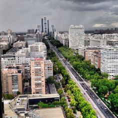 Paseo de la Castellana, one of the longest avenues in Madrid. Places Around The World, Around The Worlds, Healthcare Architecture, Foto Madrid, Le Palais, World Cities, Pamplona, Spain And Portugal, Most Beautiful Cities