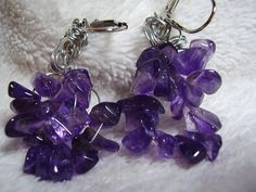 Amethyst Handcrafted Earrings perfect for that February Birthday.