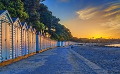 Avon Beach, Mudeford Background Ideas, Bournemouth, Buses, Aesthetic Wallpapers, Avon, Britain, Beach, Places, Lugares