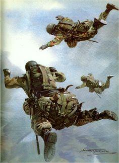 British paratroopers, Falklands War