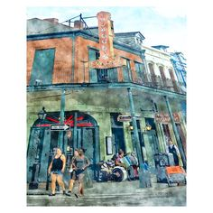 An icon in New Orleans, Tujaques Restaurant and Bar makes a great spot for making a little music as people stroll by in this digital watercolor painting from an original photograph by Rebecca Korpita titled Tujaques Est 1856.  On archival matte paper, this Glicee print is offered in three sizes (see options above) and will come with a 1/2 - 1 inch white border for ease of matting and framing. 8x10 is also available on .75 inch or 1.5 inch deep stretched canvas with sides painted black. N...