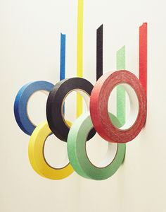 Getting into the Olympic spirit with some coloured masking tape from Mammoth and Company.