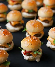 mini burgers please and thank you.