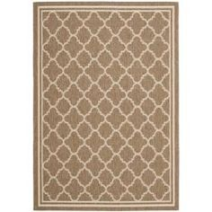 Poolside Brown/ Bone Indoor Outdoor Rug (5'3 x 7'7)