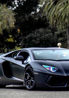 #Lamborghini #Aventador Matte Black- @LadyLuxeJewels  L.S.