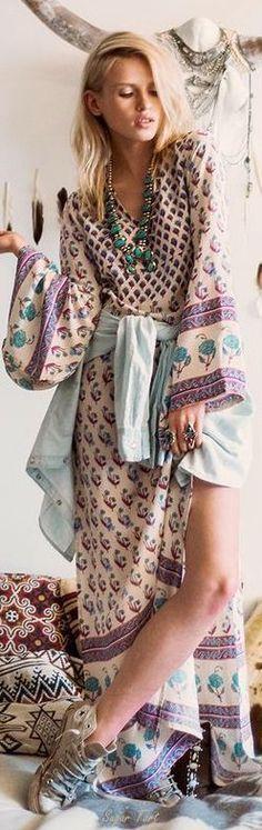 maxi dress & chucks