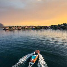 Riva Boat, Vintage Italian, Golden Hour, Sunset, Sunsets, The Sunset