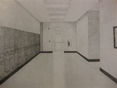 Jacob Schult - Freshman - Hallway Perspective Drawing - 2012-2013 - Introduction to Two-Dimensional Art