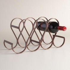 Seven Bottle Metal Teardrop Wine Rack | World Market