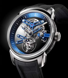 The entire U20 Ultra-Skeleton Tourbillon watch has been conceived as a beautiful mechanical haute horlogerie sculpture. Built like a supercar its design is streamlined and based on structural optimization. Made of sapphire carbon and titanium the U20 is at the forefront of cutting-edge watchmaking. From the movement to the case design every aspect of the U20 has been conceptualized to allow light to enter the watch and reveal the splendor of the movements architecture and tourbillon. The…