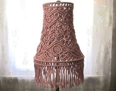 Macrame Lampshade For Tall Lamp Antiquity Macrame by craft2joy, $115.00