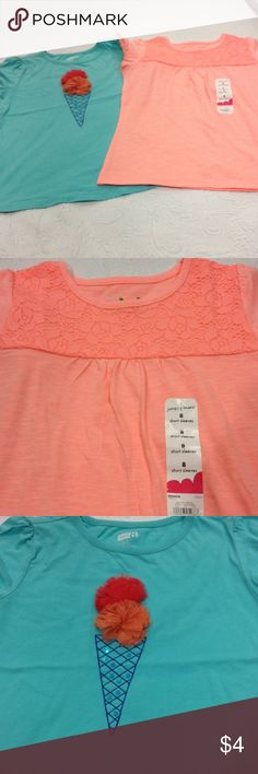 Size 8 girls tops Crazy 8 and Jumping bean Size 8 girls tops Crazy 8 and Jumping bean excellent condition Crazy 8 an Jumping bean Shirts & Tops