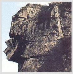 A good closeup of the Great Stone Face Rock located between Pennington Gap and St. Charles, VA
