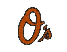 Baltimore Orioles Embroidery Machine Design by OCDEmbroidery, $3.00