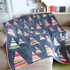 Patchworkdecke - Tutorial / Jeden-Tag-ein-Bäumchen-Decke von LiBellein - Adventskalender - Türchen Nr.11 ~ Lila-Lotta